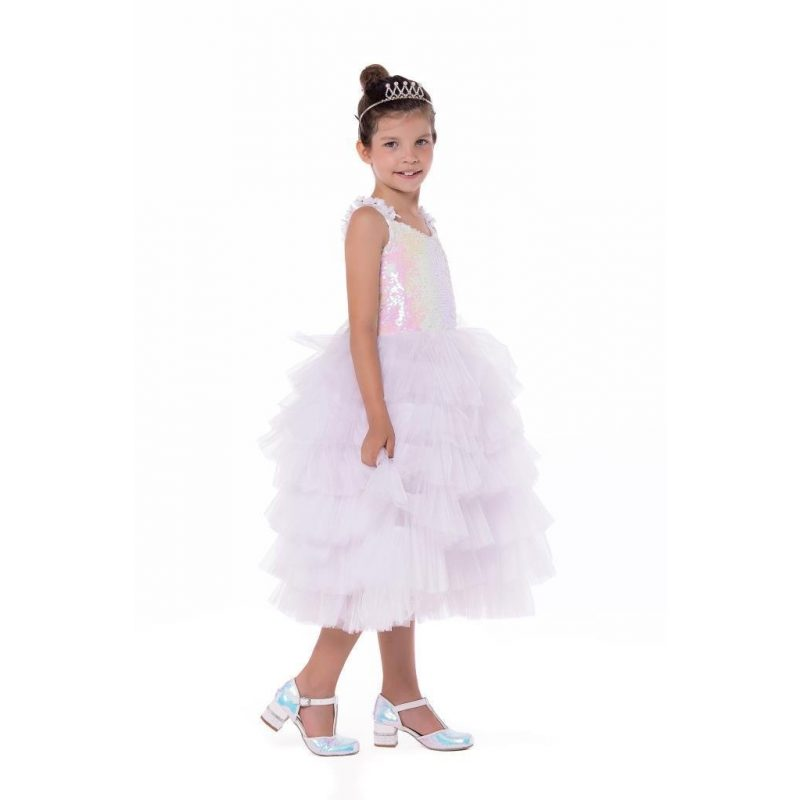 SWELLED DRESS ABİYE ELBİSE BEYAZ